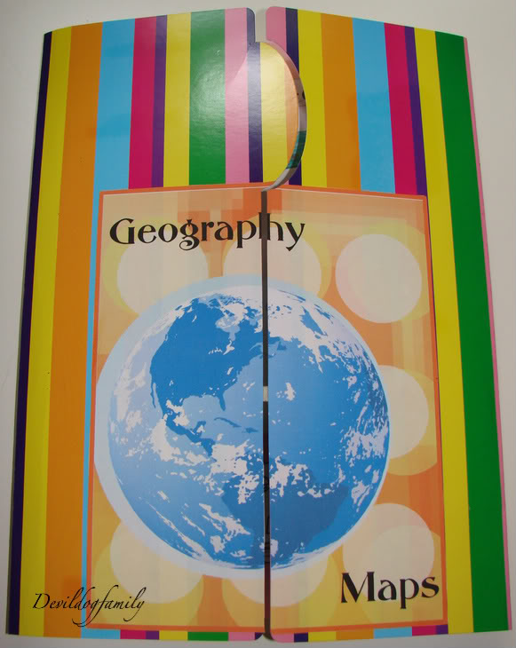 geography lapbook front