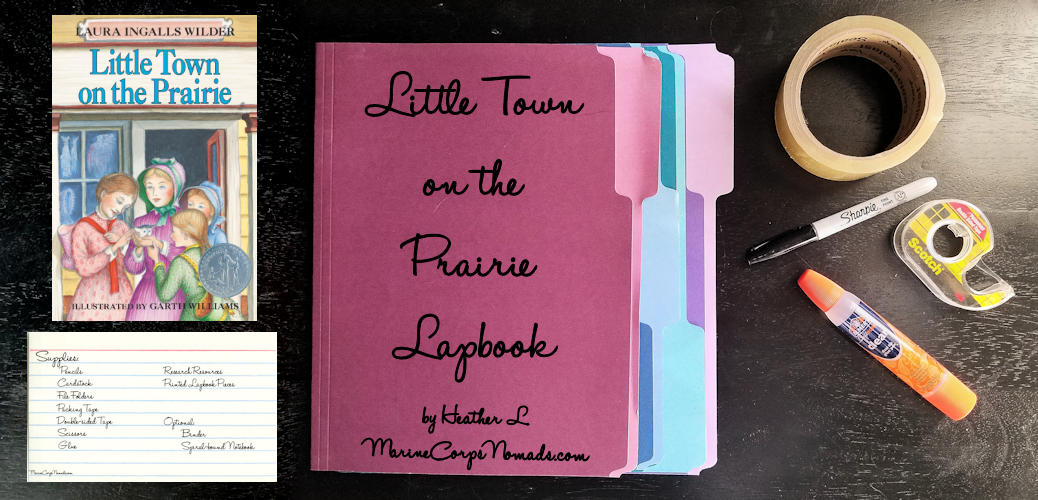 Little Town on the Prairie Lapbook