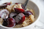 cherries and cream oatmeal