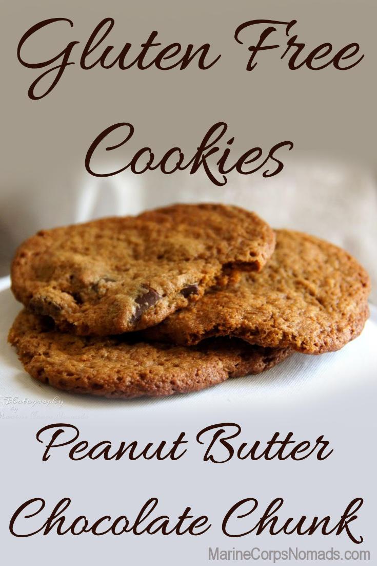 Gluten Free Peanut Butter Chocolate Chunk Cookie Recipe