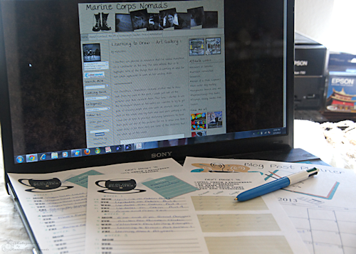 Blog Post Planner Sheets