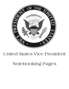 Vice Presidents Notebooking Pages Set