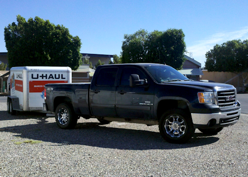Truck with Uhaul