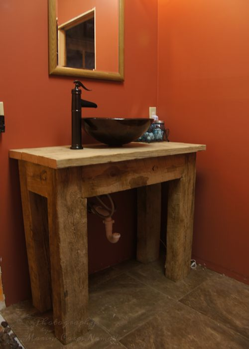 diy rustic bathroom vanities