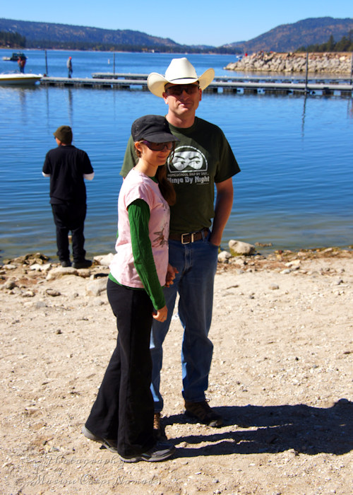Daddy and Munchkin at Big Bear Lake
