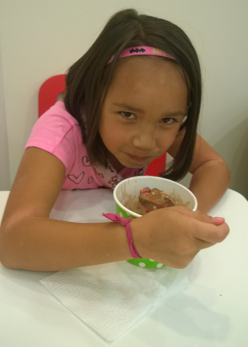 Malia with Chocolate Frozen Yogurt