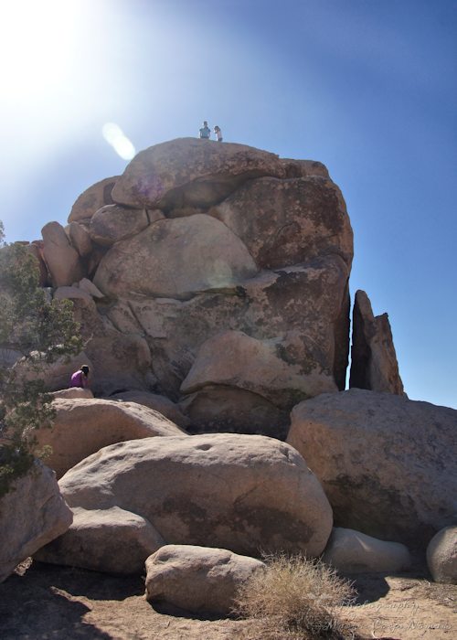 Rini and Michelle at the Top