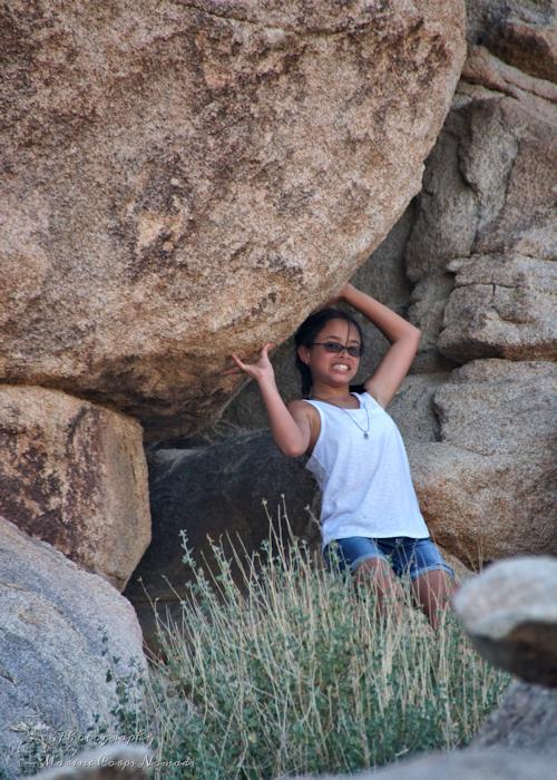 Rini holding Rock