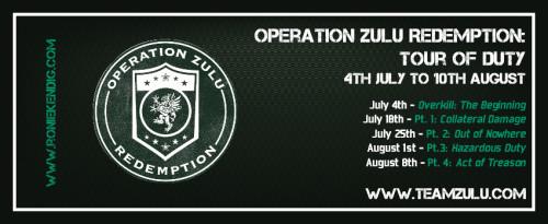 Team Zulu Schedule