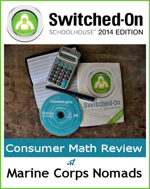 Switched On Schoolhouse Consumer Math Review