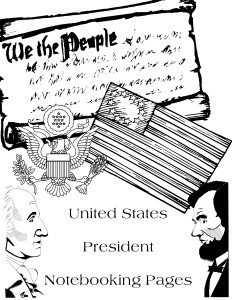 United States Presidents Notebooking Pages