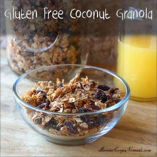 Gluten Free Coconut Granola Recipe