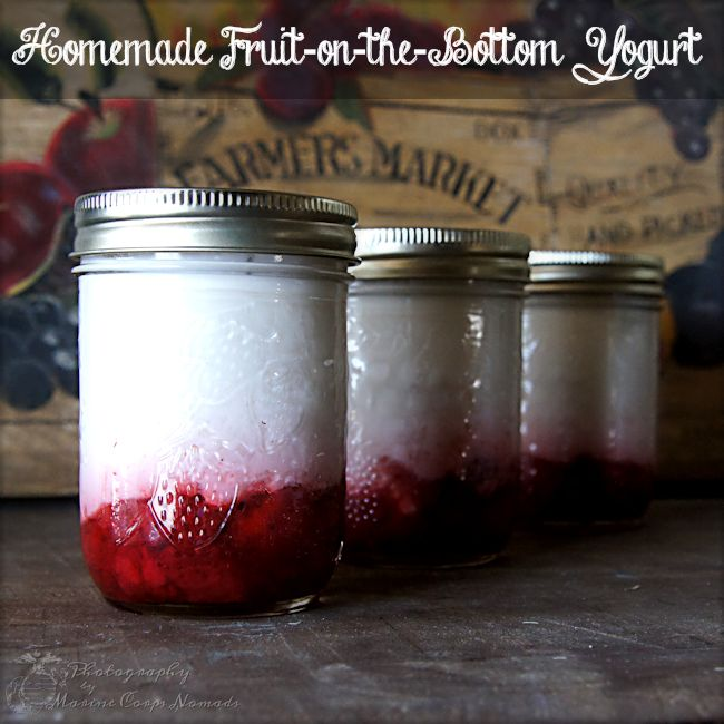 Homemade Fruit-on-the-Bottom Yogurt