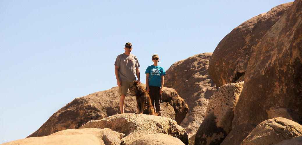 Hiking with Dogs Giant Rock