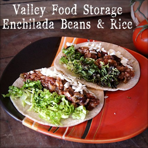 Valley Food Storage Enchilada Beans and Rice