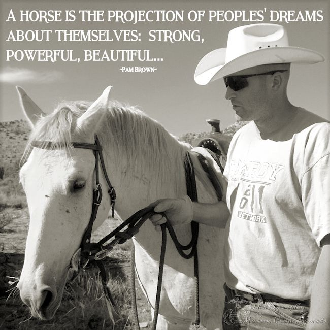 A horse is the projection of peoples' dreams about themselves - strong, powerful, beautiful