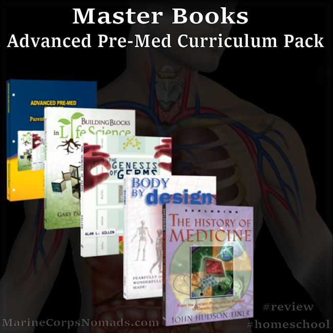 Advanced Pre-Med Studies Curriculum Pack from Master Books