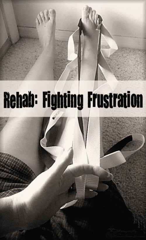 Fighting frustration while going through high ankle sprain rehab