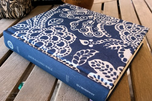 The ESV Journaling Bible has a fabric covered board cover
