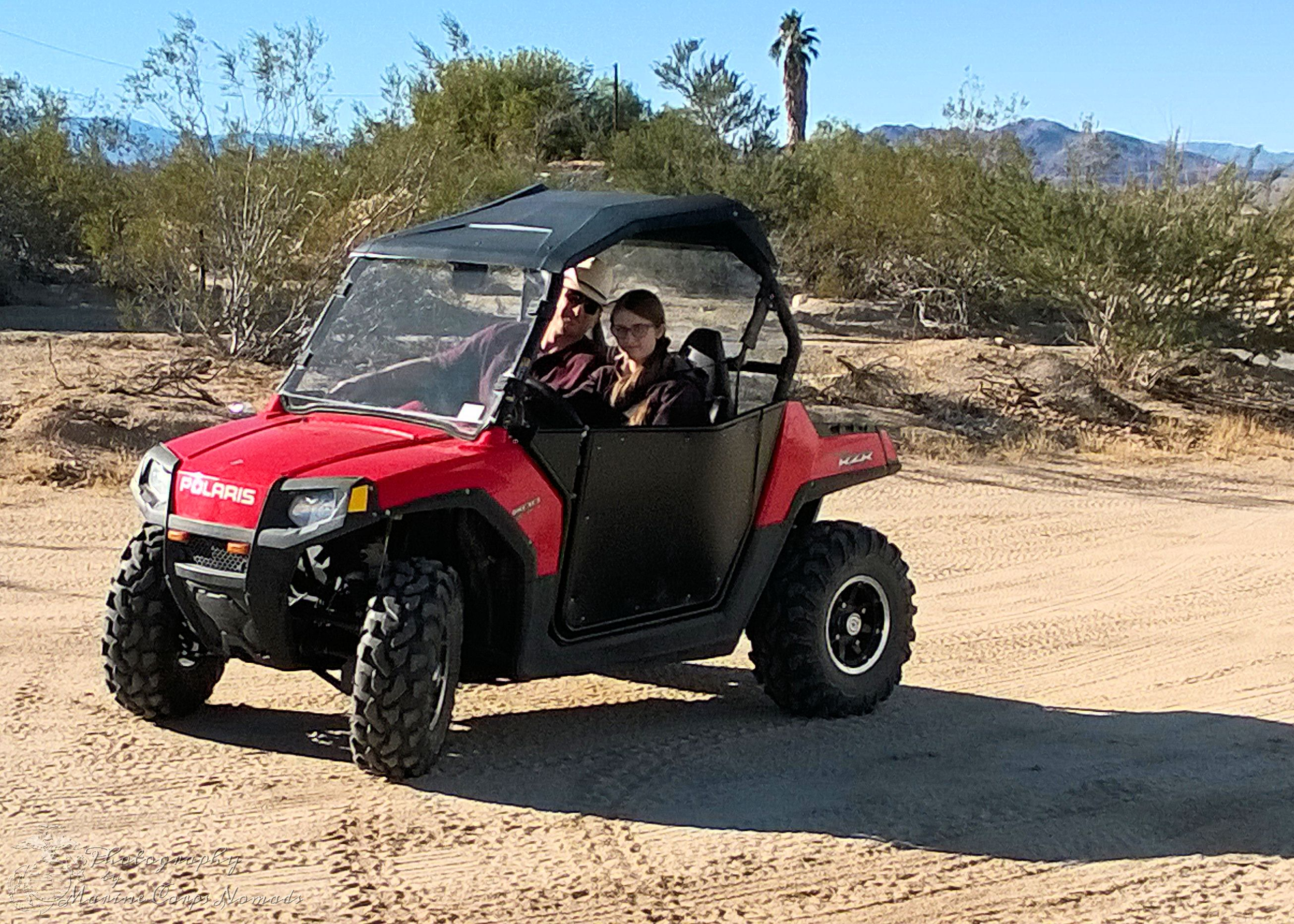 Testing out the new RZR Doors