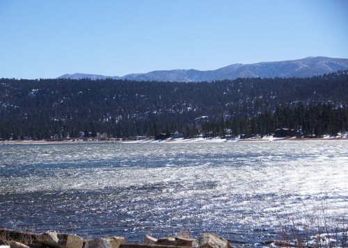 The icy waters of Big Bear Lake