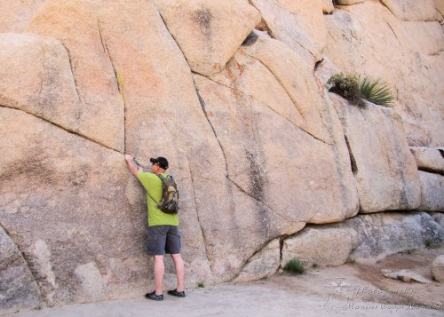 Checking out one of the climbing areas