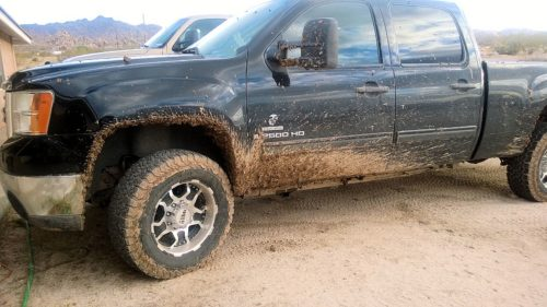My truck got a little muddy during the vehicle recovery process