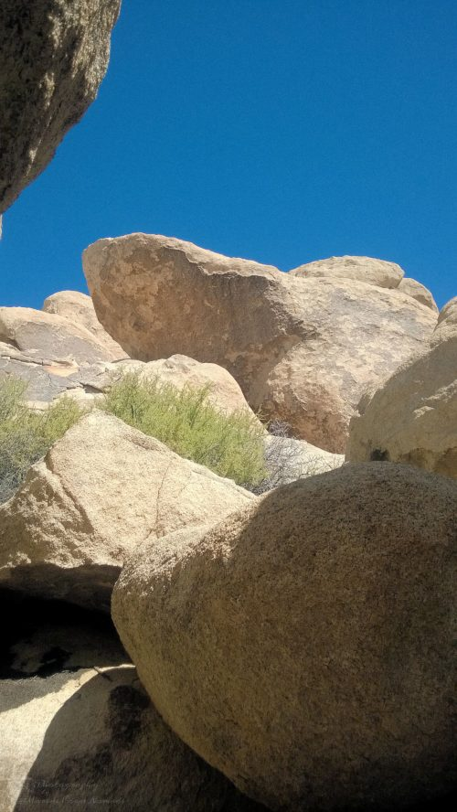 Relaxing in the shade of the boulder caves