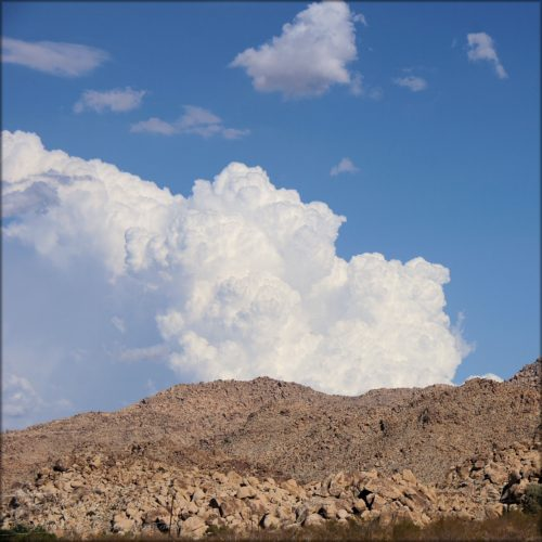 Clouds over the desert mountains