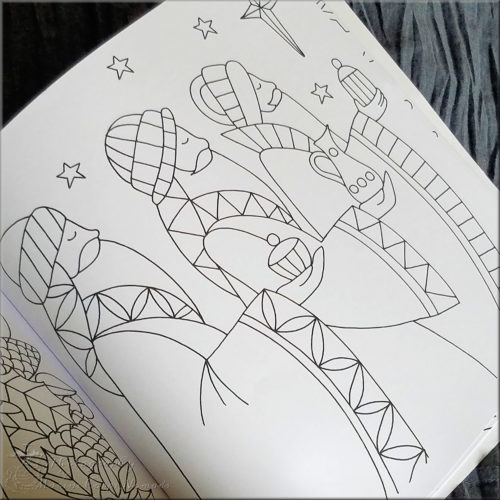 All is Bright kids coloring page
