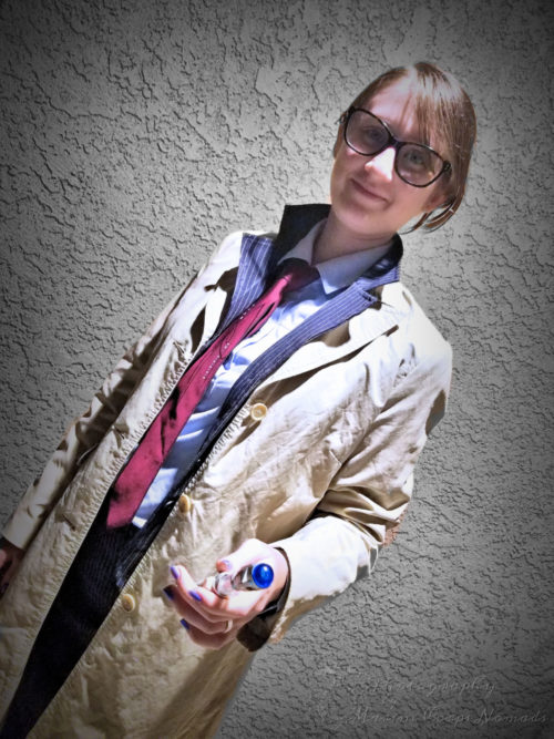 Time Lord with Sonic Screwdriver