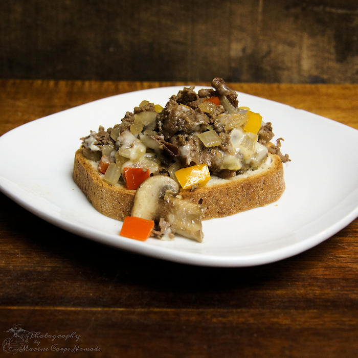 Gluten-free open-faced cheesesteaks