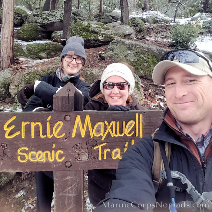Hiking Ernie Maxwell Scenic Trail