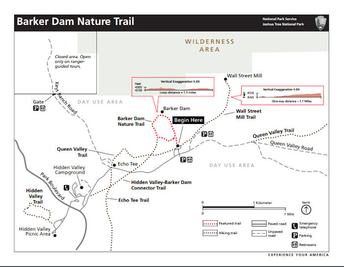 Barker Dam Nature Trail Map