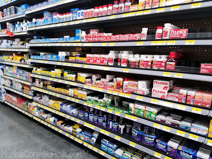 Shopping for Excedrin at Walmart for the Travel Headache Relief Kit