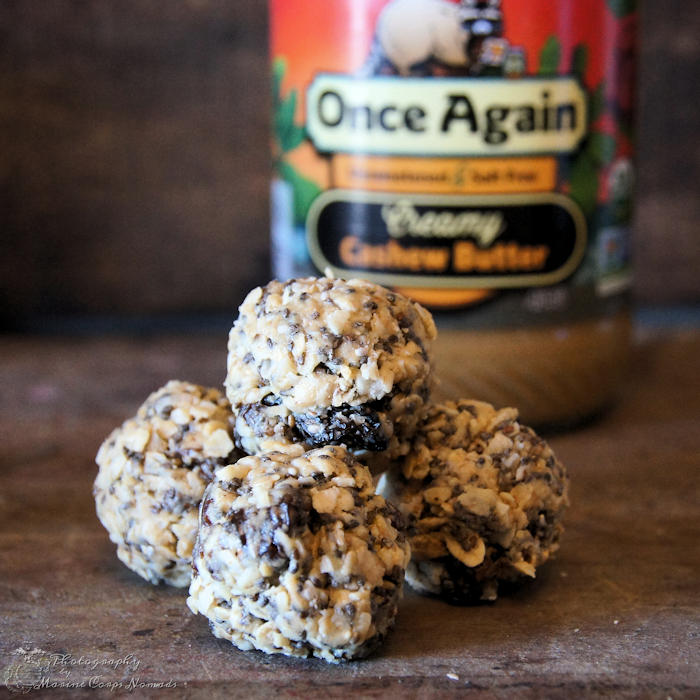 Gluten Free No Bake Protein Energy Bites with Once Again Cashew Butter