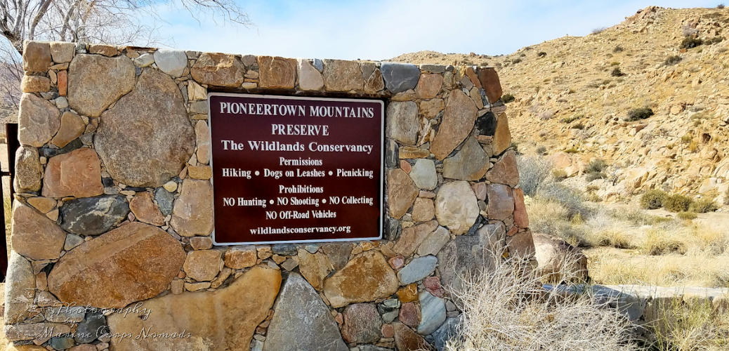 Pioneertown Mountains Preserve CA