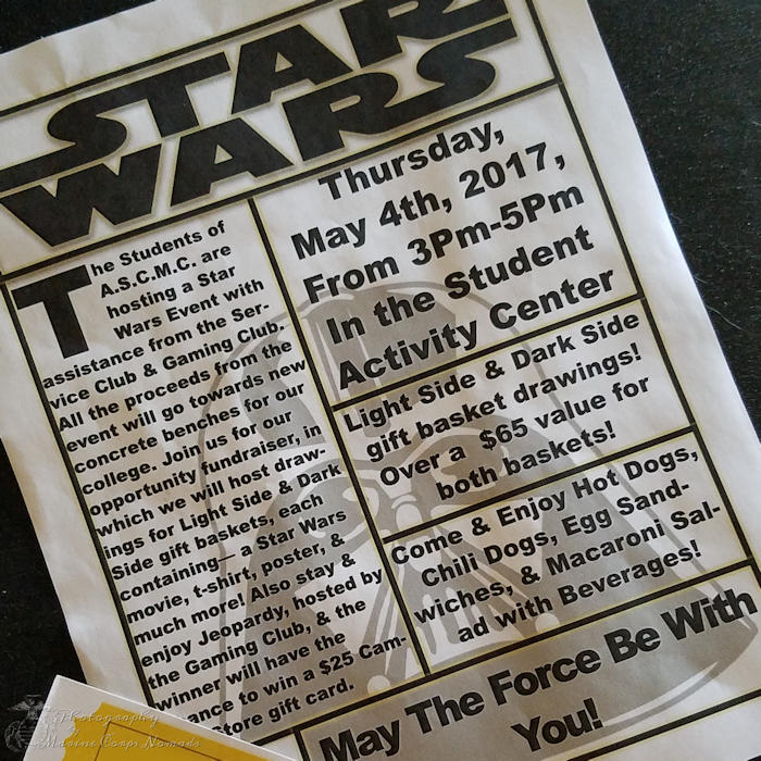 CMC Transfer Student Luncheon with May the 4th Flyer