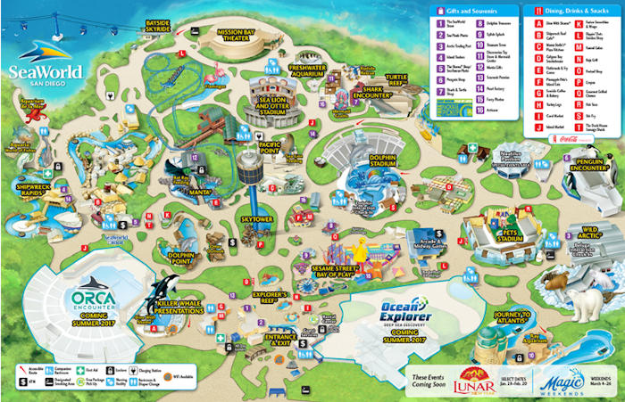 Sea World San Diego Map