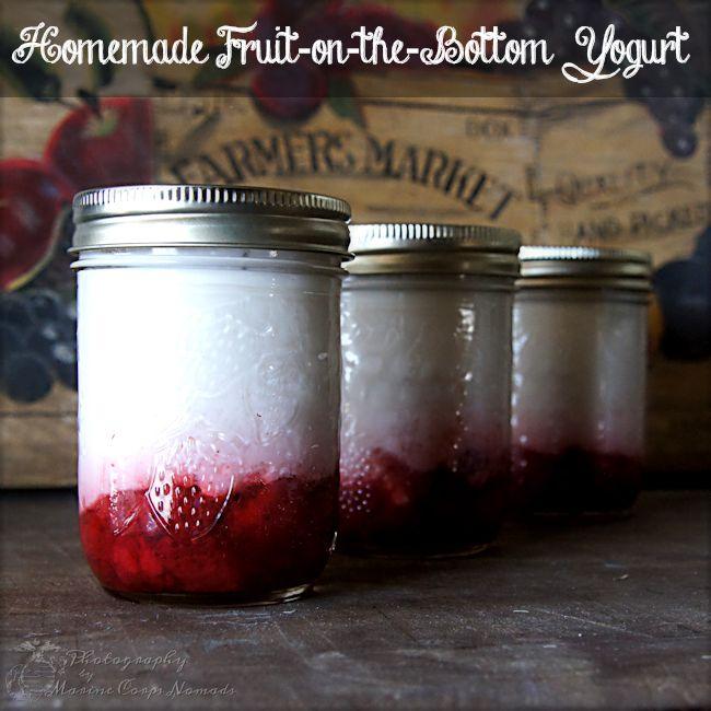 Homemade Fruit on the Bottom Yogurt